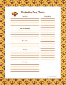 potluck menu template organize your menu planner s crafty
