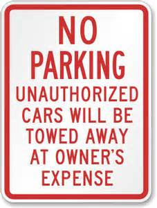 authorized parking vehicles only signs online
