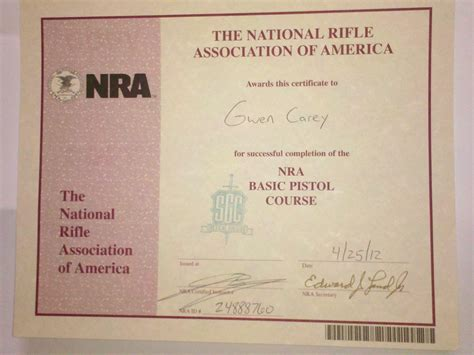 nra certificate template our carey family adventures change your latitude change