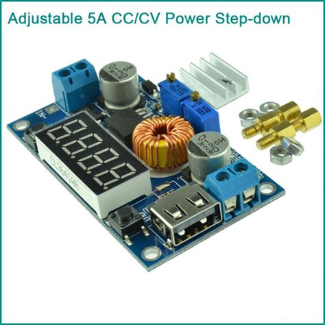 5 Ere Adjustable Step Cc Cv China Led Driver adjustable 5a cc cv power step charge module led driver w usb voltmeter jpg