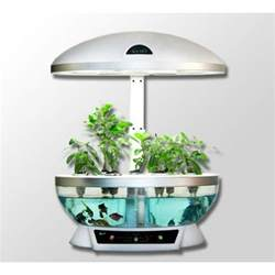 Hydroponic Indoor Herb Garden Aquaponics System Fish Tank Aquarium Planter Grow Light