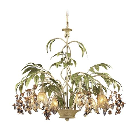 Tropical Lighting Fixtures Chandelier With Glass In Seashell Finish 86053 Destination Lighting