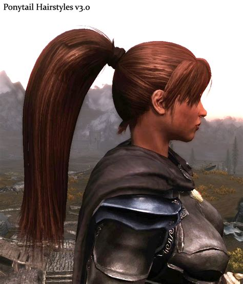 slf hair skyrim mod ponytail hairstyles v3 0 at skyrim nexus mods and community