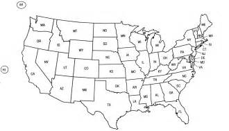 united states abbreviations map