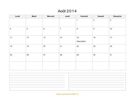 Calendrier Aout 2011 Calendrier Ao 251 T 2014 224 Imprimer Gratuit En Pdf Et Excel