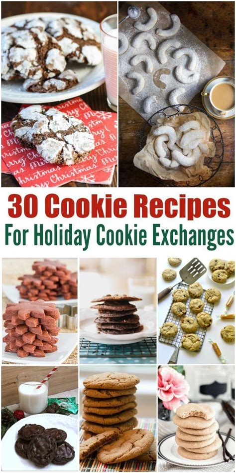 8 Awesome Cookie Recipes by 30 Cookie Exchange Recipes Cookie Recipes Awesome And