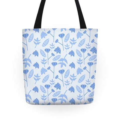 tote bag floral pattern floral pattern blue tote bags grocery bags and canvas