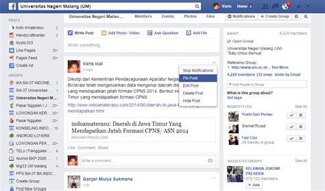 membuat facebook selalu online membuat postingan pada group facebook selalu berada paling