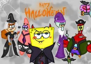 spongebob halloween wallpaper wallpapersafari