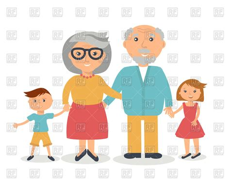 clipart nonni grandparents with their grandchildren royalty free vector