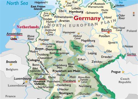 map netherlands germany amsterdam to berlin