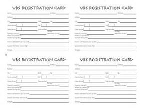 registration cards template children s ministry july 2010
