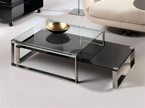 table basse de salon en verre stain