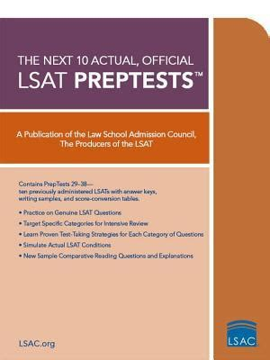 master the lsat includes 2 official lsats books next 10 actual official lsat preptests lsat series