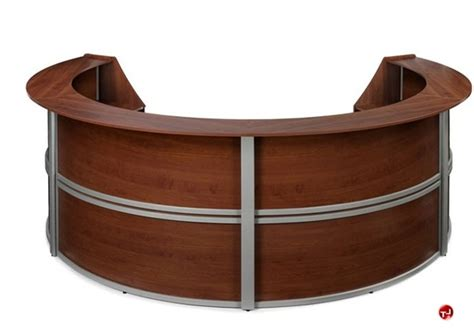 Circular Office Desk The Office Leader Omf 4 Unit Marque 55294 Circular Reception Desk Workstation