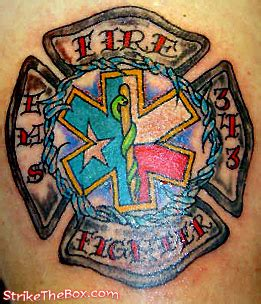 can firefighters have tattoos ems firefighter tattoos