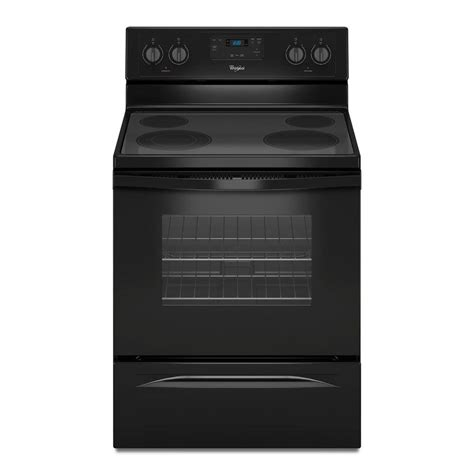 Oven Oxone 4 In 1 whirlpool 30 in 4 8 cu ft electric range in black wfe320m0eb the home depot