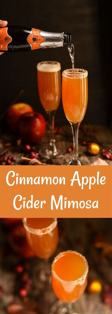 cinnamon apple cider mimosa recipe cocktail recipes