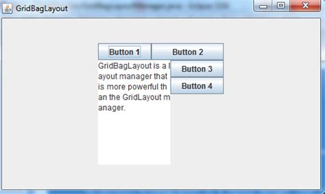 java layout gridbaglayout java programs gridbaglayout