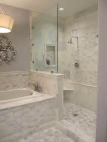 carrara marble tile bathroom open shower design contemporary bathroom sherwin