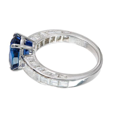 cartier 3 09 carat sapphire platinum