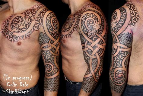 bone tribal tattoo skin bone inked viking tattoos and