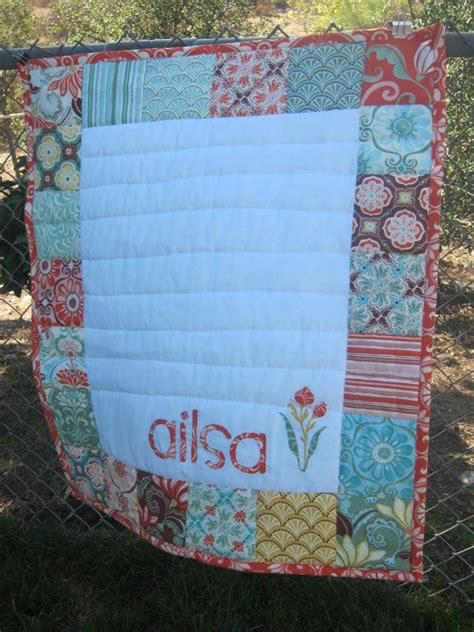 Name Quilts custom baby quilt personalized with baby s name