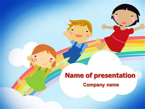 kid friendly powerpoint templates the rainbow presentation template for powerpoint and