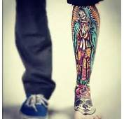 Mexican Virgin Mary Tattoo On Leg  Tattoobitecom