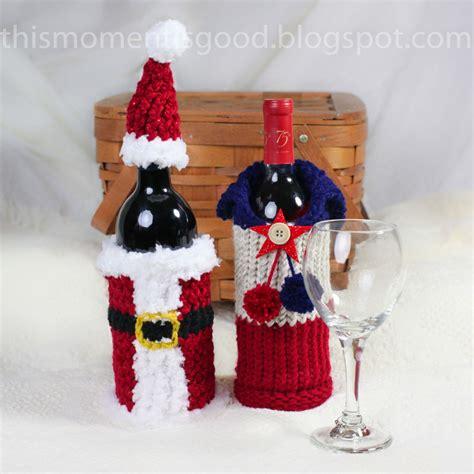 knitting pattern wine bottle cover wine bottle covers loom knitting pattern six unique