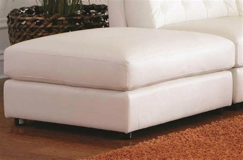 White Leather Ottomans White Leather Ottoman A Sofa Furniture Outlet Los Angeles Ca