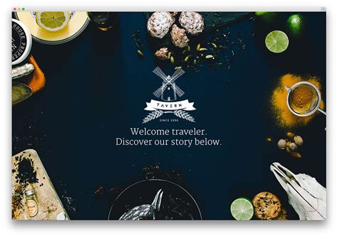 theme hotel full screen 40 best wordpress restaurant themes 2018 colorlib