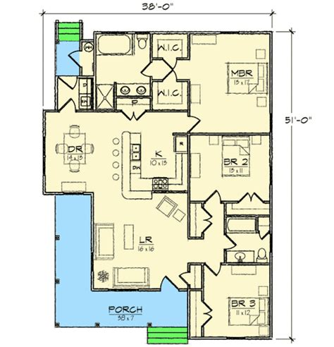 narrow lot cottage house plan 9818sw architectural narrow lot cottage 10095tt architectural designs