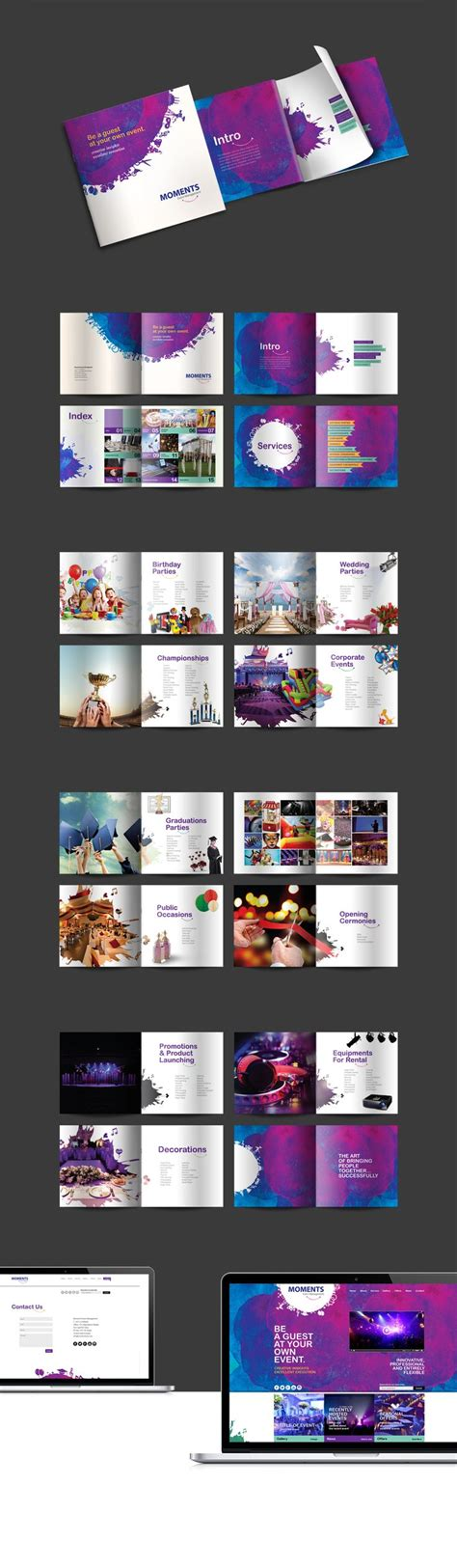 design event based brochure design created for an event management company
