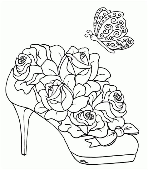 printable coloring pages of roses and hearts free adult printable coloring pages roses heart coloring