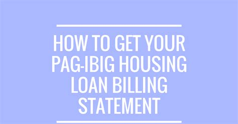 Housing Loan Monthly Billing Statement 28 Images