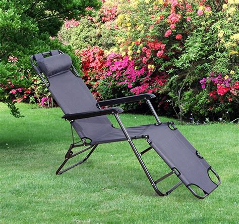 Portable Outdoor Lounge Chairs by Outdoor Portable Lounge Chair Aosom Ca