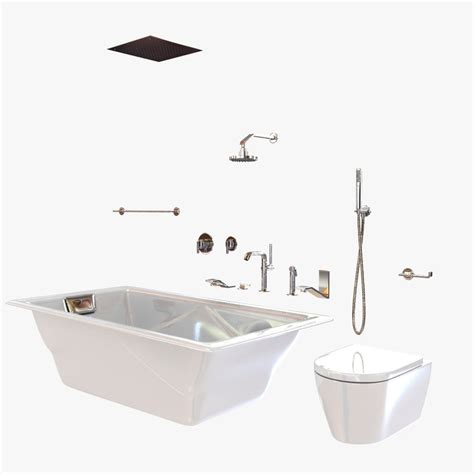 Bathroom Fixtures Waterworks Bathtub 3d Model Waterworks Bathroom Fixtures
