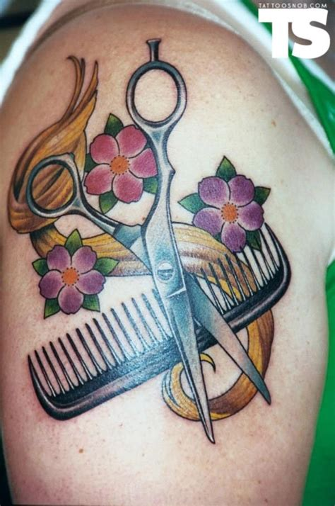 hair scissor tattoo designs 40 simple hair comb