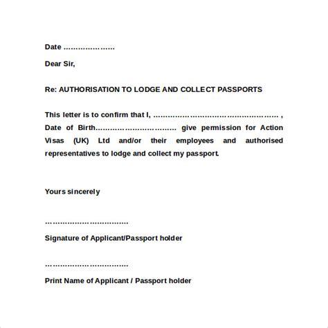Sample Passport Authorization Letter 9 Free Documents