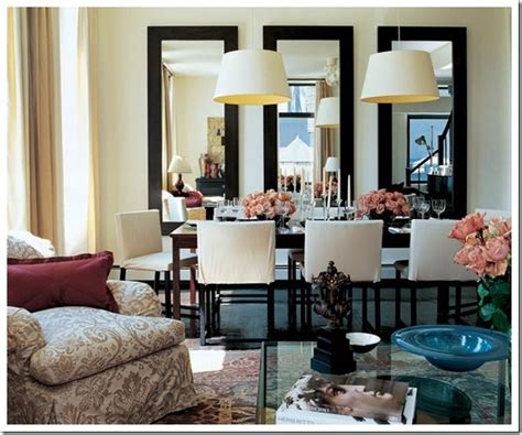 mirrors for rooms ad dining room two chandeliers three mirrors