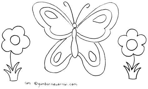 Gambar Untuk Mewarnai | gambar mewarnai kupu kupu a beautiful butterfly pinterest