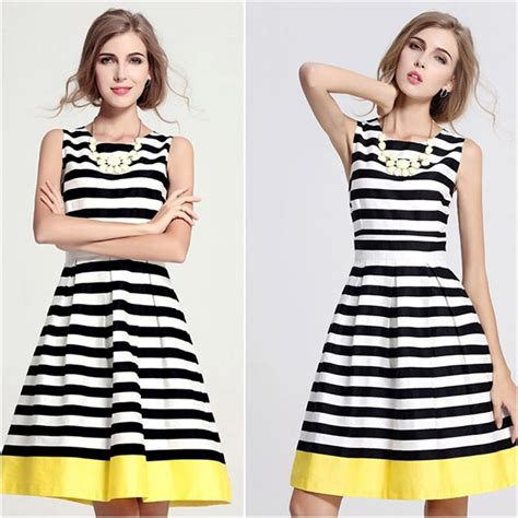 Kate Spade Xl Original Paper Bag summer 2016 striped black and white with bold
