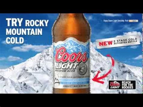 coors light cold hard coors light rocky mountain cold youtube