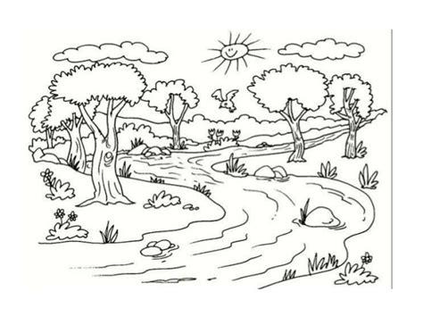 imagenes de paisajes naturales para colorear paisajes para colorear