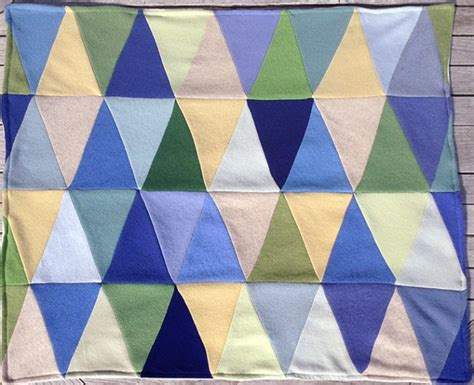 Triangle Patchwork Quilt - triangle baby blanket heirloom quality