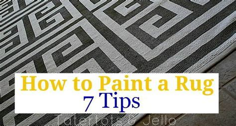 Painting A Rug by How To Paint A Rug Seven Tips To Painting A Rug