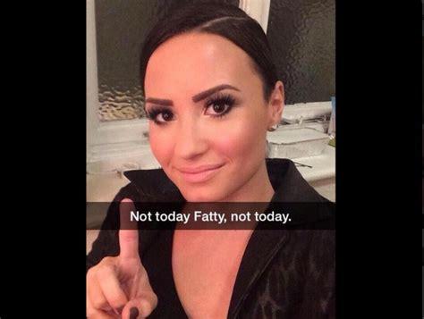demi lovato fatty fan claims lovato called her fat