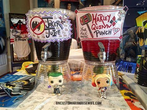 Joker Decorations batman birthday drinks birthday