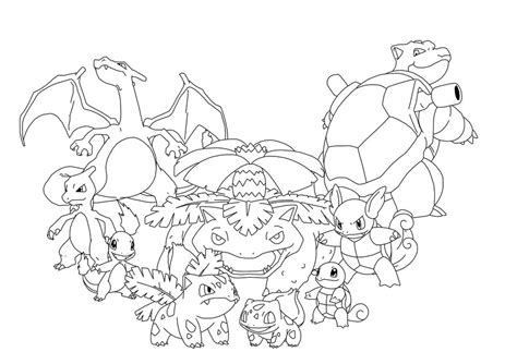 Pokemon Kanto Coloring Pages | kanto starters pokemon coloring pages coloring pages